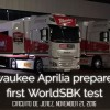 Milwaukee Aprilia prepare for first WorldSBK test