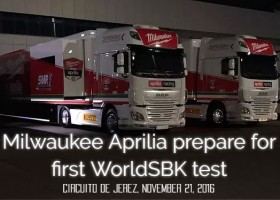 Milwaukee Aprilia prepare for first WorldSBK test