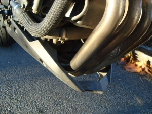 Yamaha XJ6 downpipes are lovely but keep them polished or they'll suffer. Header bolts are vulnerable to corrosion