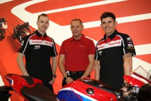 "Honda (UK) has announced that Dan Linfoot and Jason O'Halloran will remain with Honda Racing, spearheading the team's assault on the 2017 MCE British Superbike Championship aboard the all-new Honda CBR1000RR Fireblade SP2. Announced today (Sunday) at Motorcycle Live at The NEC in Birmingham, both Linfoot and O'Halloran are proven contenders in the Championship, having scored 13 podiums between them this year and O'Halloran taking his maiden MCE BSB win with the pair making the Showdown six. Linfoot's re-signing marks his third year with Honda UK, after he has continued to show his potential and has been so close to securing his debut MCE BSB win. His help developing the new Fireblade, alongside team-mate O'Halloran, will be crucial when the team puts the all-new Fireblade through its paces at the first scheduled test in the New Year. Linfoot said: ""I'm really happy to remain with Honda Racing for my third year. When I first signed in 2015 it was always in the back of my mind that I'd like to remain until the new Fireblade was available and I'm so pleased that this is now possible. Next year will be an exciting time for the team with the new CBR after eight years with the old model, and I'm excited to continue to help with the development. ""We've had two strong years with the last model Fireblade, so I'm looking forward to seeing what we can do on the new one and I'm certain we can be even stronger than we have been. Reflecting on this year, I'm happy with our performance, of course I would have liked to have secured my first race win, but I know that will come, maybe some more podiums, but all in all, it was a great year for us and puts us in a good place going into the New Year. I can't wait to get testing, try the new Blade and get the season underway!"" The new season marks the tenth year O'Halloran will be working with the manufacturer. He started his career with Honda Australia, before moving to England where he has been with Honda (UK) for seven years. The O'Show has ridden three generations of the Fireblade and has been a pivotal part in the development of the CBR in the British Championship. O'Halloran said: ""I'm really pleased to be back with Honda for 2017, this year was successful for us; I finished fifth in the championship and it's the first time I've completed a full Superbike season. I'm really looking forward to next year, I know we're going to be stronger with the experience and what we have learnt from this season. ""I will have the same crew behind me, the same team and we'll have the new Fireblade, which is exciting. I have raced the last model Fireblade since 2008, which is a long stint and have worked with Honda on the development, so it's an exciting time with the new CBR – I can't wait to ride it now! 2017 will be my tenth year with Honda, three with Honda Australia and seven with Honda (UK), so it's a bit of a landmark in my career and I'm happy to continue with Honda for another year. ""I have high hopes for 2017 and think I can be a strong challenger for the title. This year we made the Showdown, had my first race win and finished on the podium seven times – so with that in mind, next year is going to be a good one!"" The Honda Racing team is now awaiting delivery of the 2017 Honda CBR1000RR Fireblade SP2 and is looking forward to the opening round at Donington Park. Nick Campolucci, Head of Motorcycles, Honda (UK) commented: ""We are delighted to re-sign Dan and Jason for a third year in the MCE British Superbike Championship. Over the last two Superbike seasons they have both shown their potential and their help with the machine development has been crucial. ""I'm looking forward to seeing them ride the new Fireblade for the first time and can't wait to hear their feedback. Both have proved they were capable of being competitive aboard an 'old' machine, so once they have equal machinery and set-up to their competitors underneath them, I think they will be unstoppable. ""I'm pleased both Dan and Jason wanted to stay with us for another year; it shows great faith and commitment from both riders in the team and also Honda. I think we're in for a very exciting 2017 season and I can't wait to see how the boys get on. While Jenny won't be racing with us in 2017, everyone at Honda (UK) thanks her for the excitement and enthusiasm that she's brought over the past two years. I'm sure this won't be the last time we see her at Honda Racing in some capacity!"" Havier Beltran, Honda Racing team manager commented: ""To have both Dan and Jason with us again next year is great news and it shows they have faith in the team and also in Honda. They have worked so hard to develop the 'old' Fireblade and have shown they can be competitive, and it's great to reward them with the all-new CBR for the new season. ""The new year marks Jason's tenth year with Honda and seven with Honda (UK), which is a huge milestone for both us and Jason and I don't think any other manufacturer in the series can boast those credentials. He also took his maiden win this season - I'm sure there'll be more to come and I'm looking forward to sharing more podiums and wins with him next year. ""With Dan his potential has shone this year and he has been so close to securing his first win, I know he'll be one to watch next year and a serious title contender. We are all now looking forward to starting our testing schedule and kicking off 2017! ""Again, with Jenny, she's been fantastic to work with and her drive and determination is something else, she never gives up. She had a great year this year beating her personal bests and improving at each round, we'd like to wish her all the best and I'm sure we'll be seeing her again soon!"""
